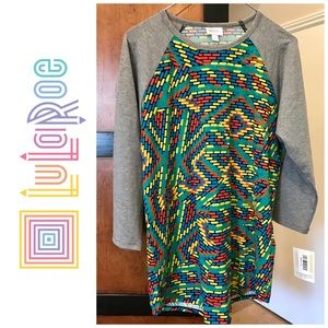 👗New LuLaRoe Randy Multicolored Shirt